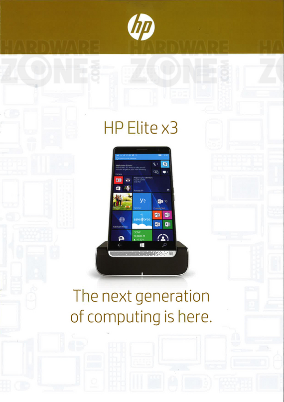HP Elite x3 smartphone - page 1