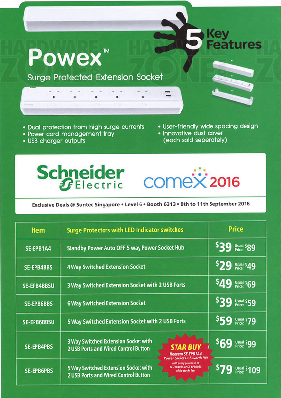 schneider electric brochures comex 2016 singapore. Black Bedroom Furniture Sets. Home Design Ideas