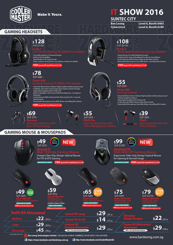 Cooler Master Gaming Mice & Headsets