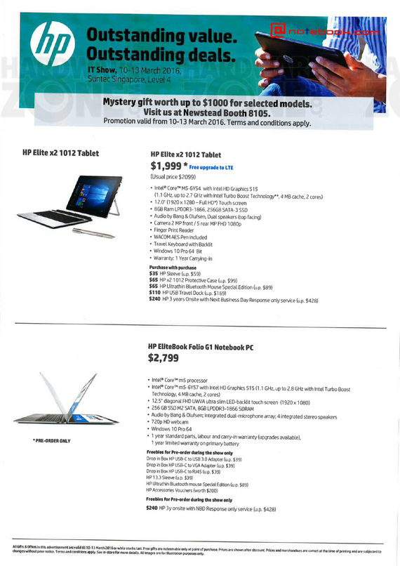HP Elite notebooks