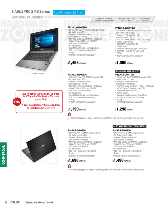 ASUS business notebooks - page 3