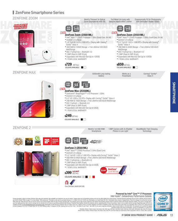 ASUS smartphones - page 1