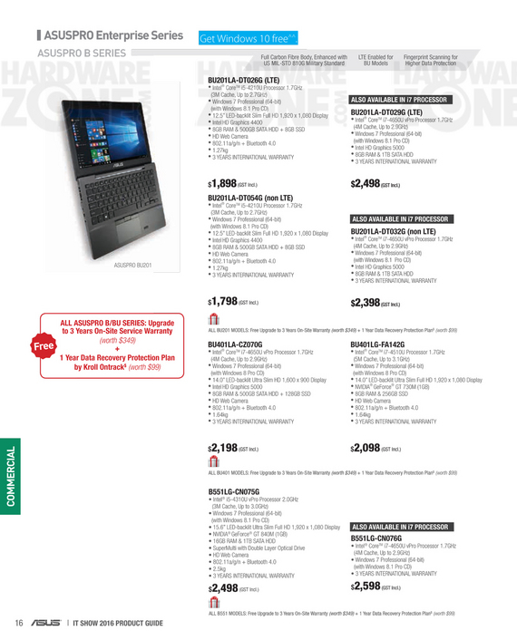 ASUS business notebooks - page 1
