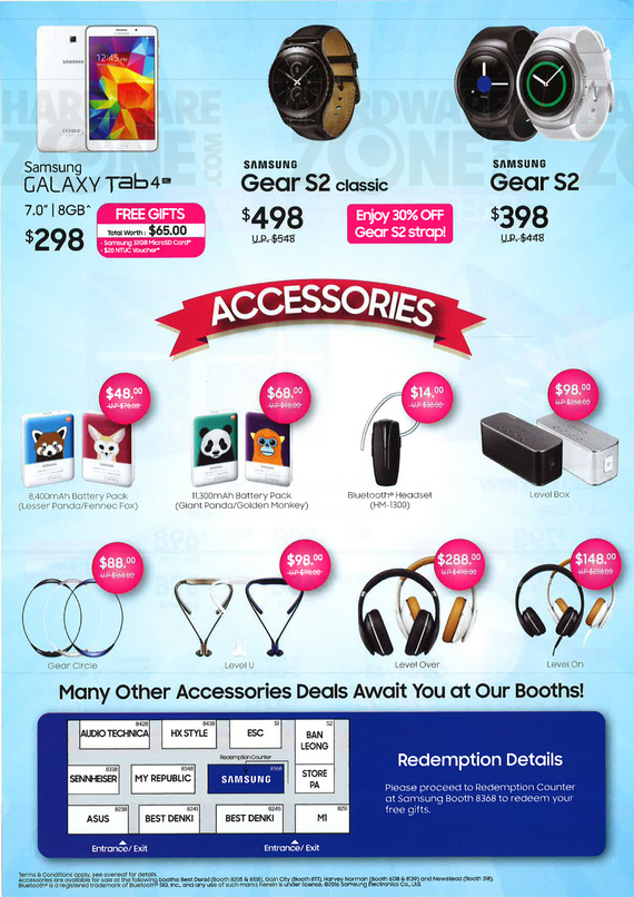 Samsung accessories and Gear S2