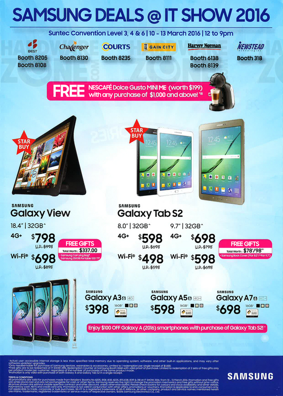 Samsung phones and tablets