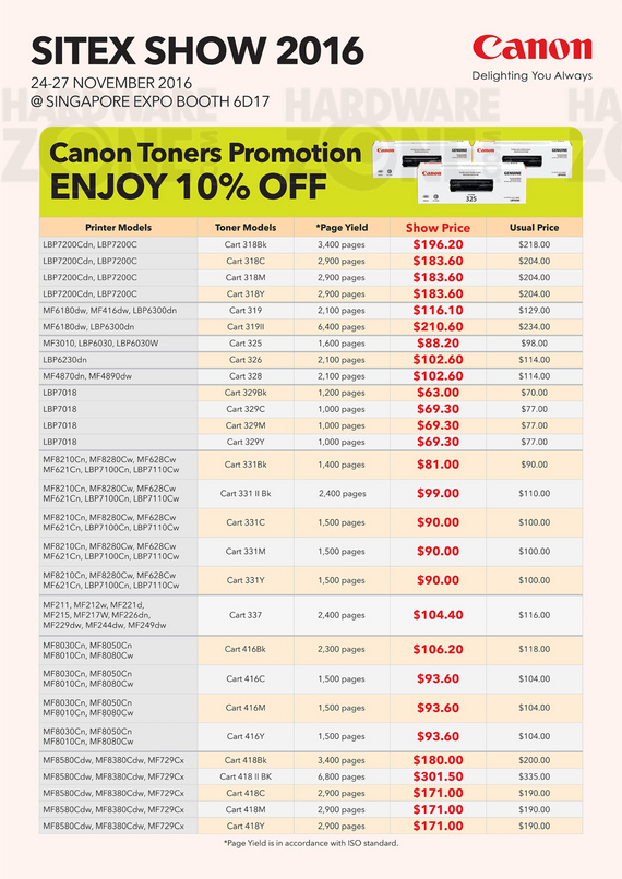 Canon Consumables - Pg 3