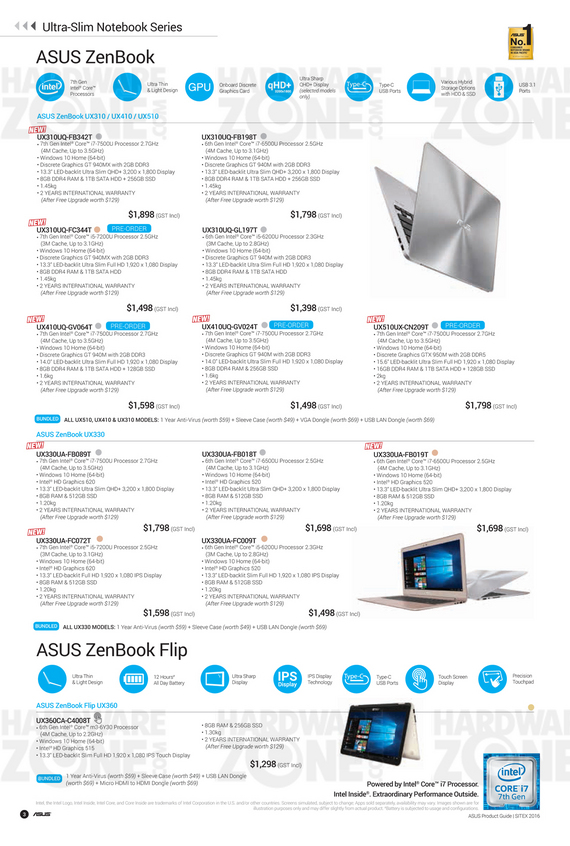 ASUS Sitex Product Guide - Pg 03