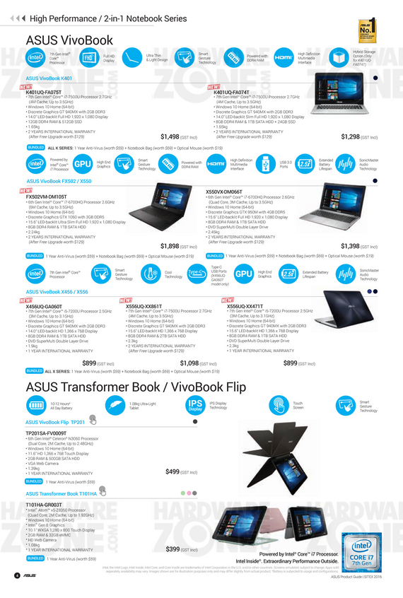 ASUS Sitex Product Guide - Pg 04