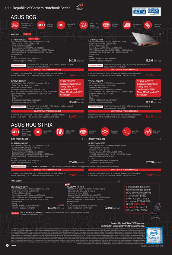 ASUS Sitex Product Guide - Pg 05