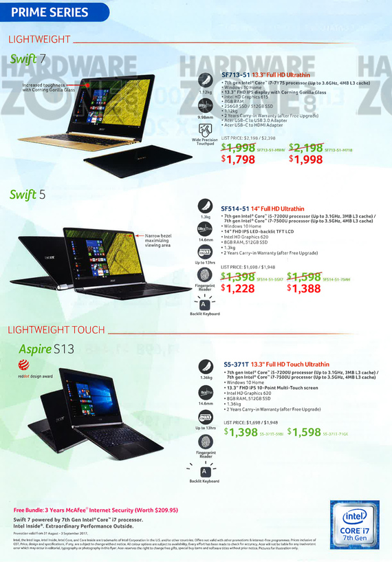 Acer Product Guide - Pg 2