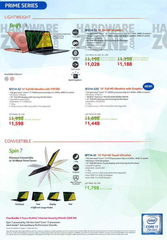 Acer Product Guide - Pg 3