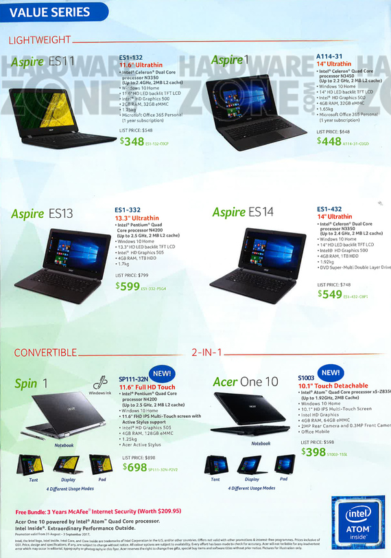 Acer Product Guide - Pg 6