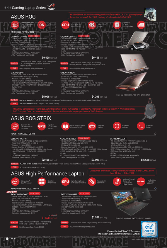 ASUS ROG Notebooks
