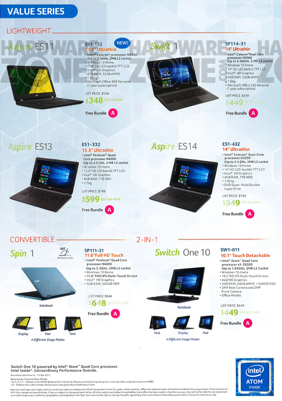 Acer brochures it show 2017 singapore for Product design singapore