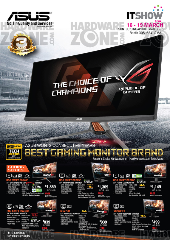 ASUS Monitors - Pg 1