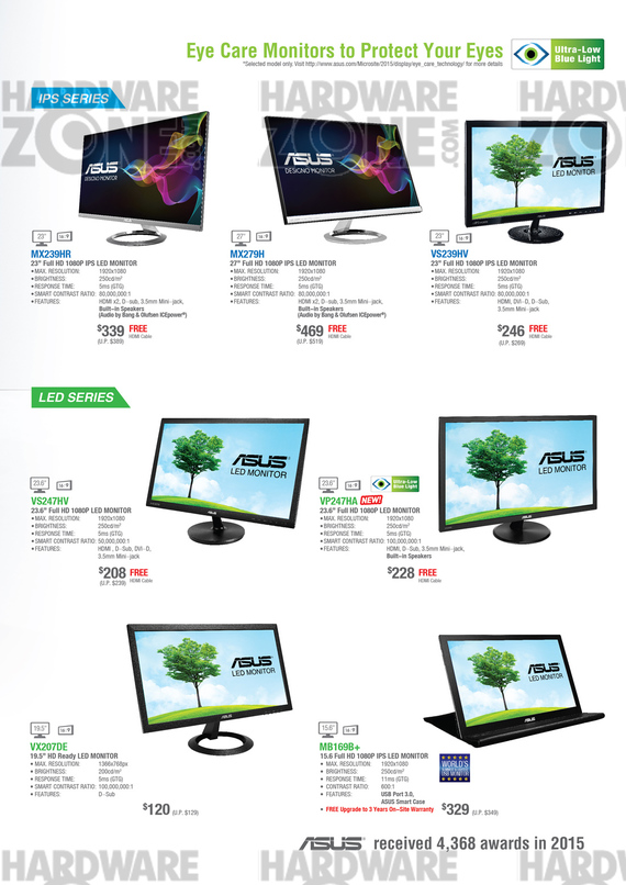 ASUS Monitors - Pg 4