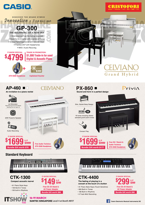 Casio Music Keyboards - Pg 1