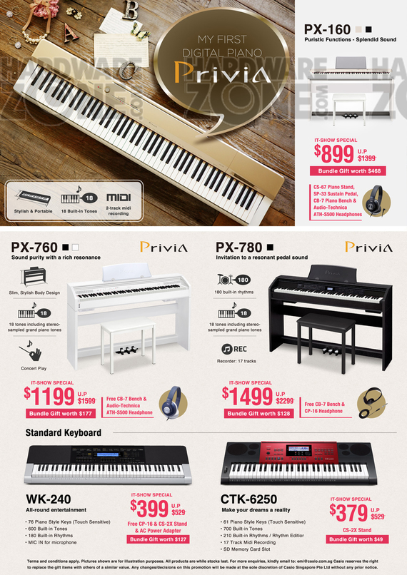 Casio Music Keyboards - Pg 2