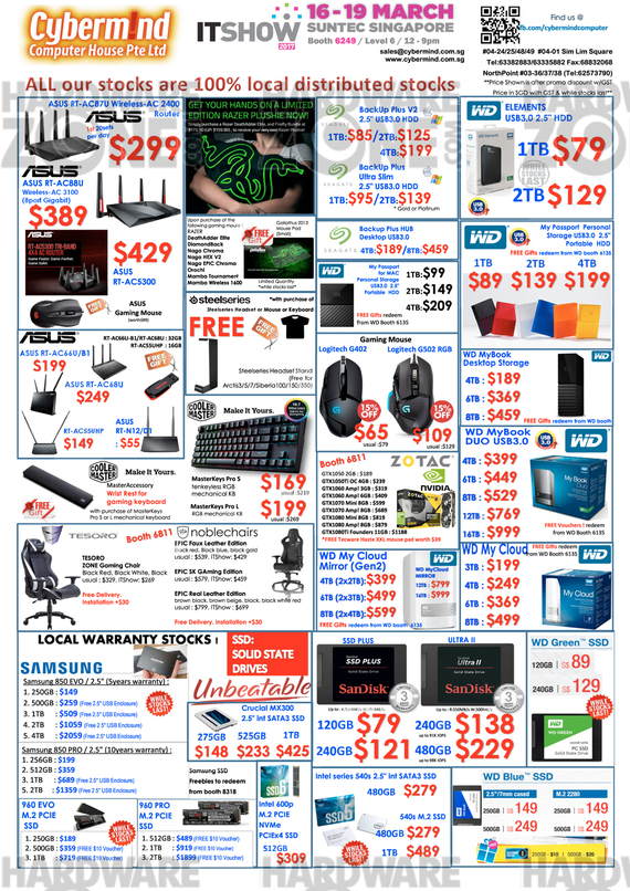 Cybermind storage & gaming gear offers