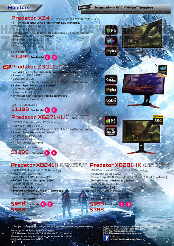 Acer Predator gaming monitors