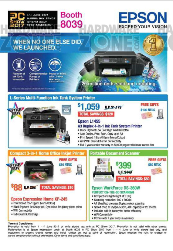 Epson Printers @ PC Show