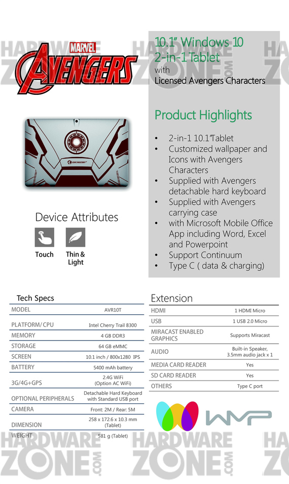 WMP Avengers 2-in-1 Tablet - Pg 2