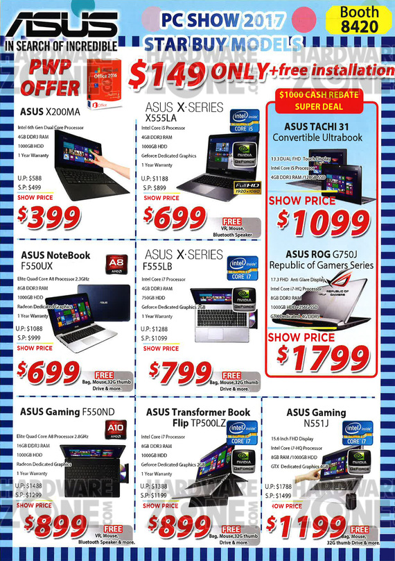 ASUS top offers @ PC Show