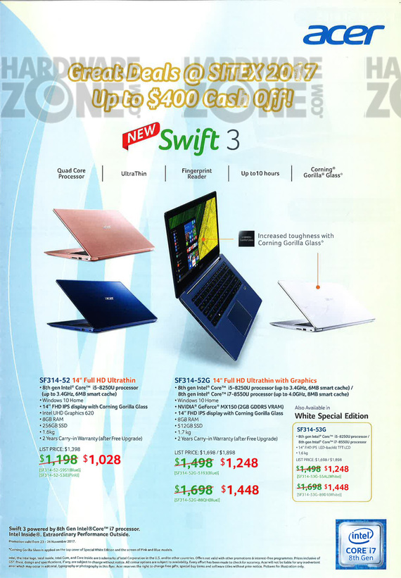 Acer Notebooks - Pg 1