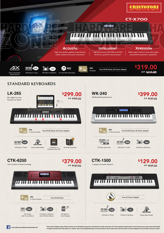 Casio Keyboards - Pg 2