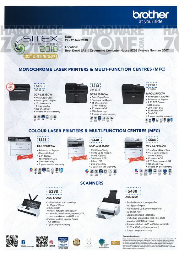 Brother Printers Brochures - SSITEX 2018 Singapore