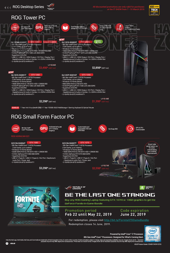 ASUS Brochures - IT Show 2019 Singapore - HardwareZone com sg