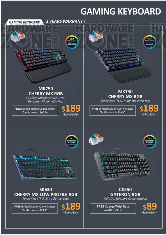 Cooler Master Brochures - IT Show 2019 Singapore - HardwareZone com sg