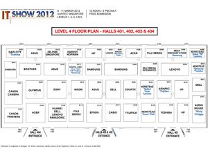 IT Show 2012 Level 4 Floor Plan