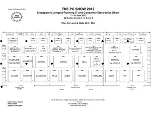 PC Show 2012 Level 4 Floor Plan