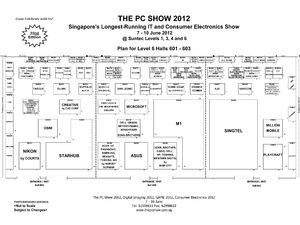 PC Show 2012 Level 6 Floor Plan
