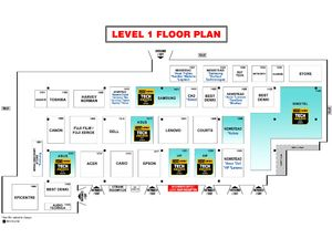 IT Show 2014, Level 1 floor plan