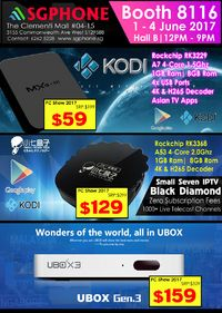 UBox IPTV Brochures from PC Show 2017 Singapore on Tech Show Portal
