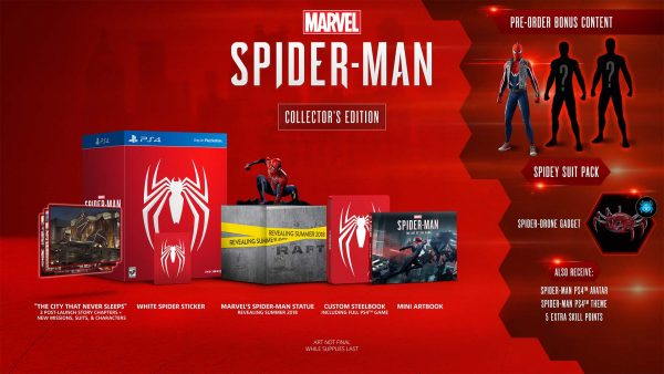 The collector's edition for Marvel's Spider-Man is a cool $229