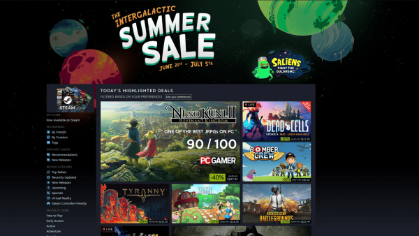 Steam's Summer Sale takes off, has a new browser game