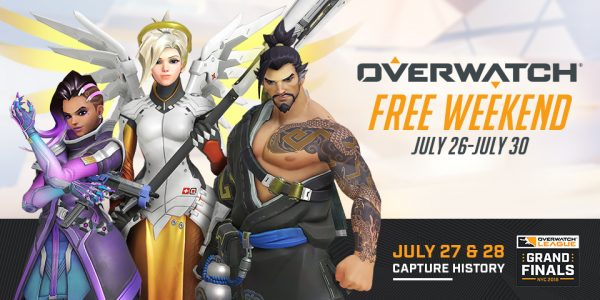 Overwatch Free Weekend running on 26-30 July