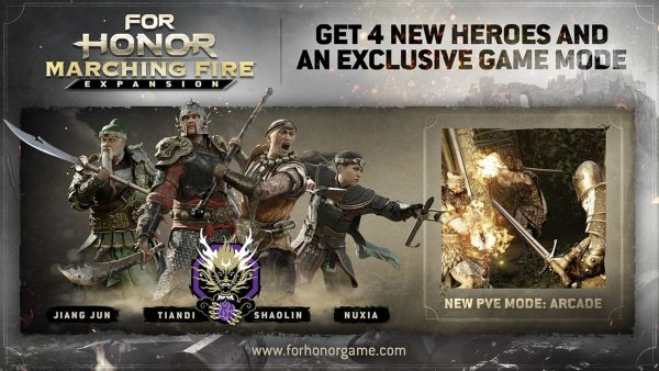 For Honor Marching Fire expansion adds Wu Lin faction, new modes, and more