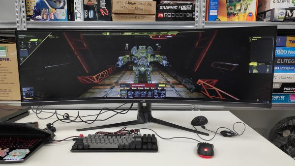 Hands-on with the massive ROG Strix XG49VQ, a 49-inch 144Hz gaming monitor