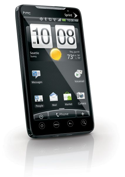 The HTC EVO 4G will first be made available in the US via Sprint.
