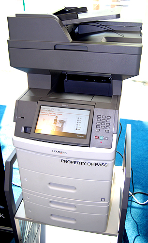 For large workgroups, there is the x656de multi-function monochrome laser printer. It prints, scans, faxes and copies, and is about to print a staggering 36000 pages on a solo extra-high-yield cartridge. It also features the highly customizable e-Task interface.