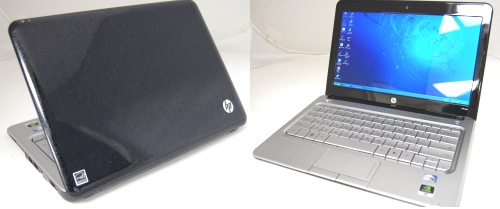 The HP M311 Ion Netbook, one of the highlights at the Entertainment & Gaming booth, might be small at 11.6 inches diagonally, but it spots a high resolution display of 1366 x 768 pixels and is powered by a 1.6GHz N270 Atom CPU along with NVIDIA Ion chipset for HD movie viewing amongst other multimedia tasks.