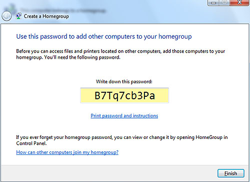 The generated password can be a pain in the butt for others to log into your Homegroup, so let's change it.