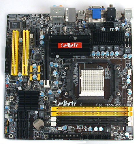 Micro-ATX seems to be the standard form factor for boards using the AMD 785G chipset, making it really suitable for small, LAN party oriented systems.