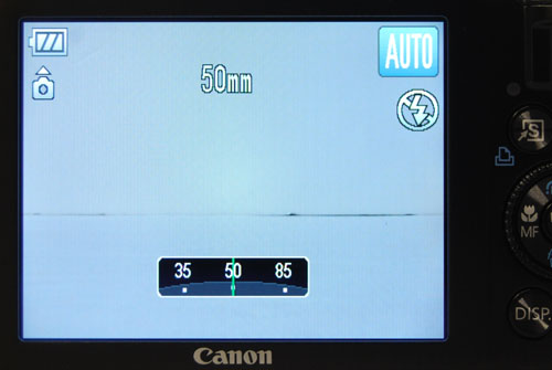 In Auto mode, the manual control ring is set to focal length control by default.