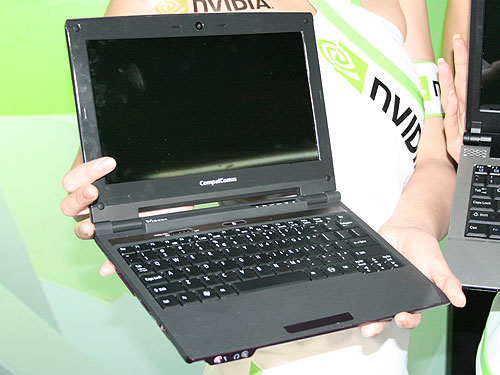 The Compal CN88 mini-notebook based on the NVIDIA Tegra platform.
