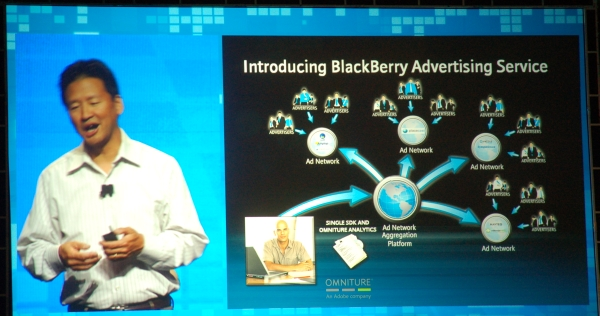 Curtis Sasaki,VP of Product Management at RIM, explains the aggregated ad network service for BlackBerry devs that will also include analytics such as advanced info from Omniture.